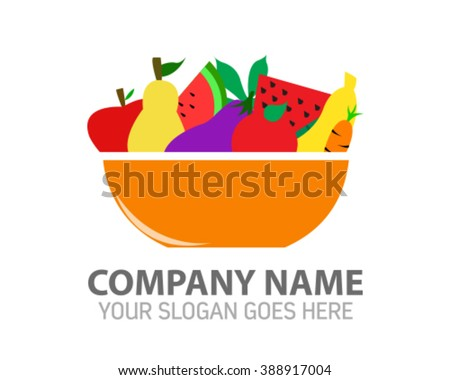 Bowl of Fruit Logo Icon Template  sc 1 st  Shutterstock & Bowl Fruit Logo Icon Template Stock Photo (Photo Vector ...