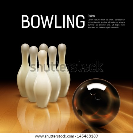 Bowling background - stock vector