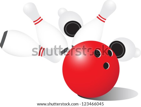 Bowling Ball - stock vector