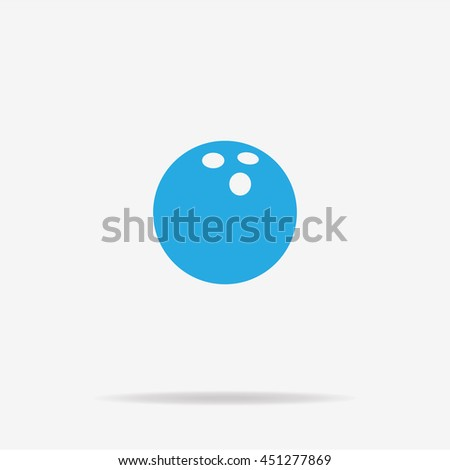 Bowling ball icon. Vector concept illustration for design. - stock vector