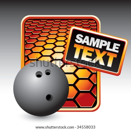 bowling ball on hexagon background