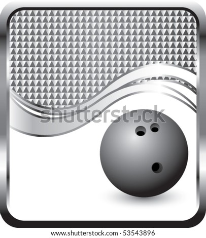 bowling ball silver checkered wave