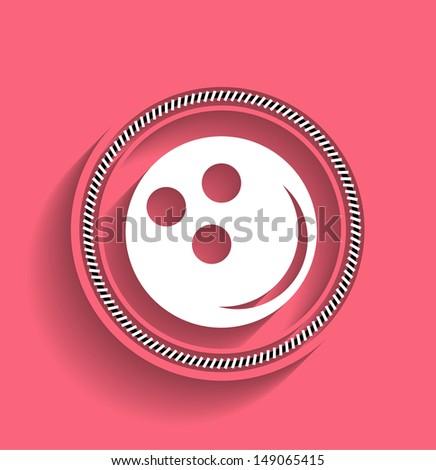 Bowling ball vector icon modern flat icon - stock vector