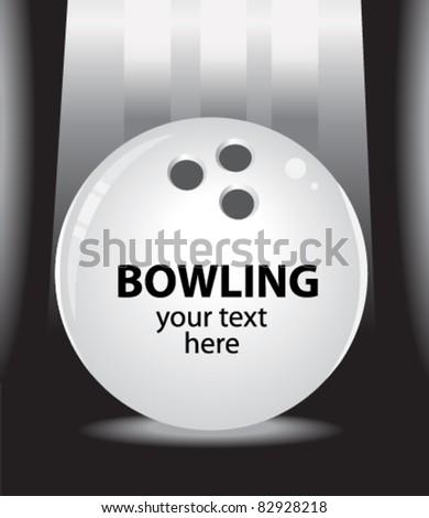bowling design - stock vector