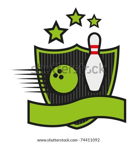 Bowling emblem - stock vector