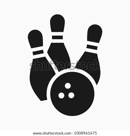 bowling game round ball black color icon - Bowling Pictures To Color