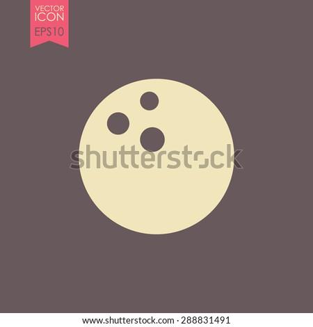 Bowling game vector icon. Ball symbol. - stock vector