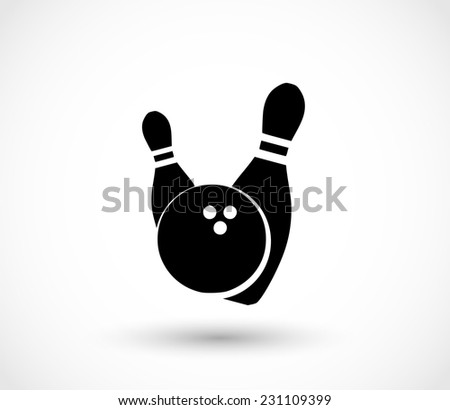 Bowling icon vector - stock vector