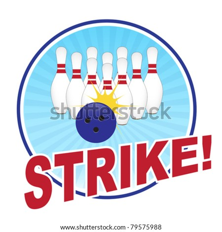 Bowling illustration - stock vector