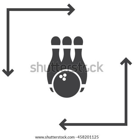 Bowling Pin vector icon. Leisure game sign. Recreation sport symbol. - stock vector