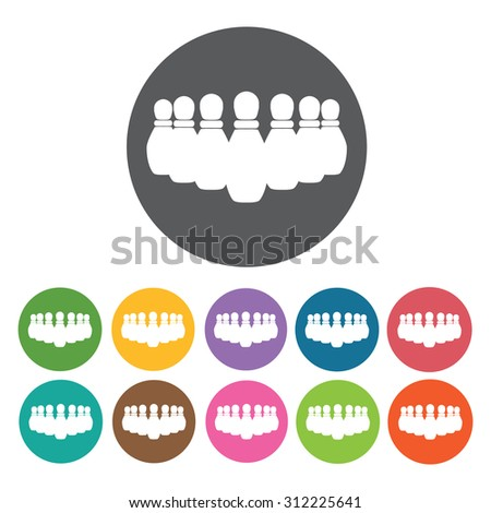 Bowling Pins icons set. Vector Illustration eps10  - stock vector
