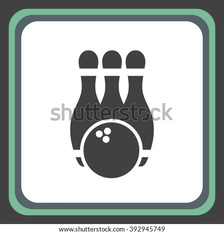 bowling pins vector icon