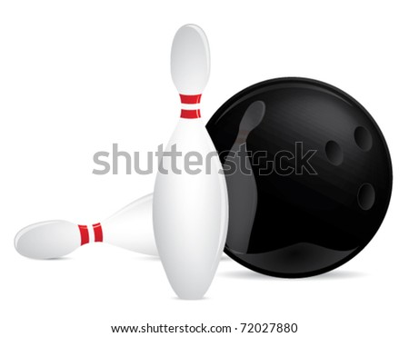 Bowling set vector illustration - stock vector