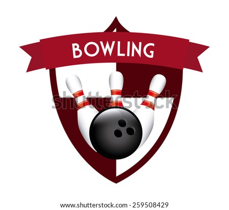 bowling sport design, vector illustration eps10 graphic
