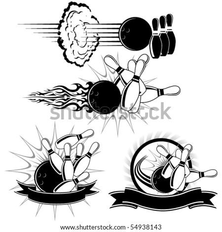 Bowling Strike - stock vector