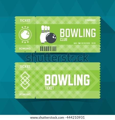 Bowling Ticket Card modern element design. vector illustration - stock vector