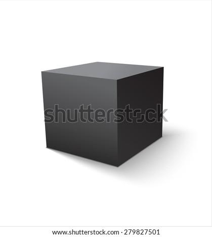 Box black icon. Template for your design. Vector illustration. - stock vector