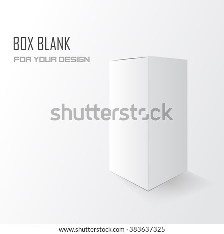 Box blank for your design. Tall white box Vector illustration, eps 10 - stock vector