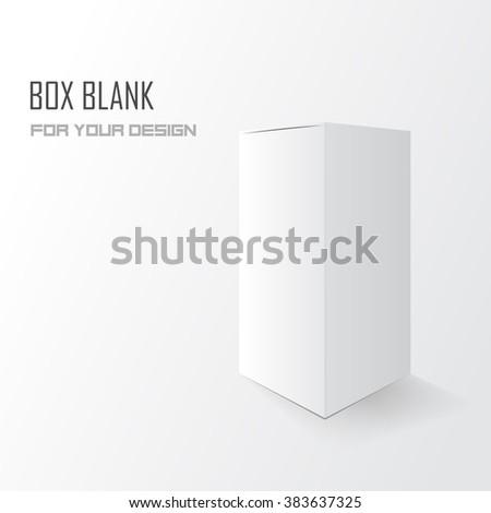 Box blank for your design. Vector illustration, eps 10 - stock vector