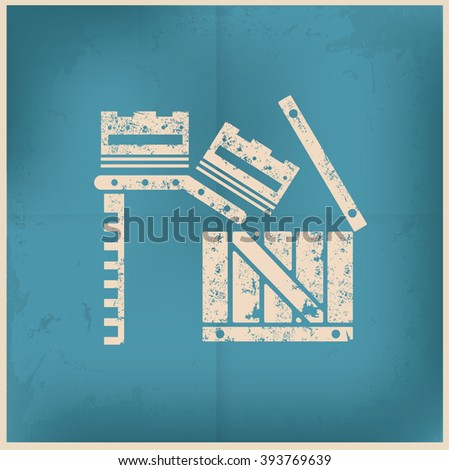 Box,cargo design on old background,vector - stock vector