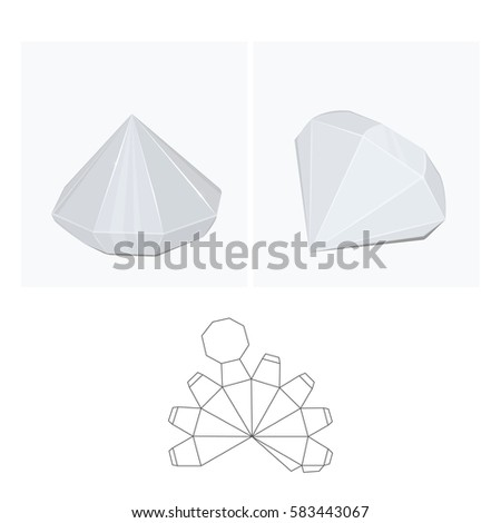 Box Diamond Layout Stock Vector 583443067