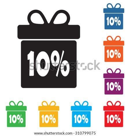 Box discounts, gift box buyer. - stock vector