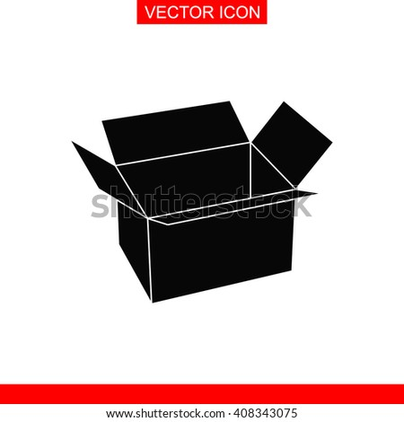 Box Icon. Box Icon Vector. Box Icon Sign. Box Icon Picture. Box Icon Image. Box Icon Illustration. Box Icon JPEG. Box Icon EPS. Box Icon Design. Box Icon Button. Box Icon Symbol. Box Icon AI. - stock vector