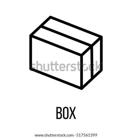 Box icon or logo in modern line style. High quality black outline pictogram for web site design and mobile apps. Vector illustration on a white background.