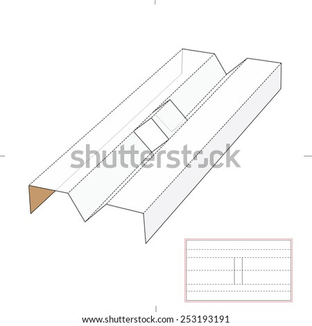 Box Insert with Die-Cut Template - stock vector