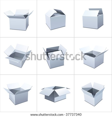 Box package - stock vector