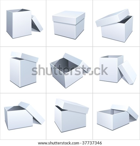 Box package 2 - stock vector