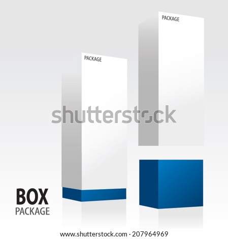 Box package design - stock vector