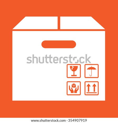 Box Package Icon symbol Illustration design - stock vector
