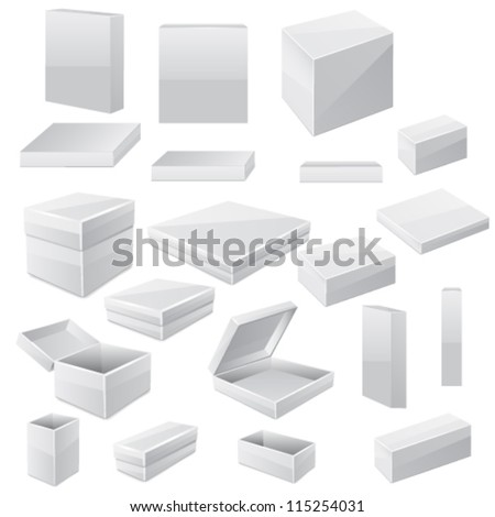 Box set. Vector - stock vector