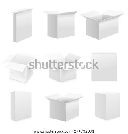 Box set. Vector Web - stock vector