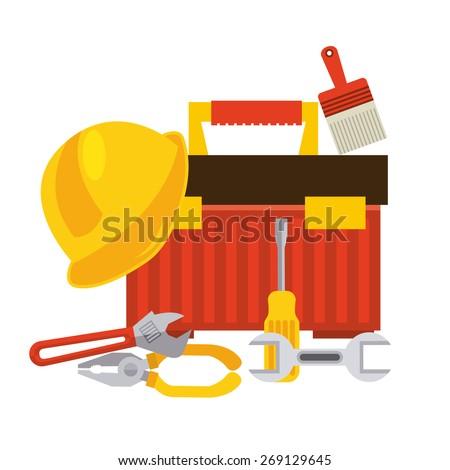 box tools design, vector illustration eps10 graphic - stock vector