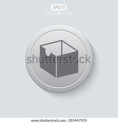 Box vector icon. - stock vector