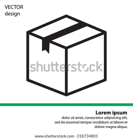 box vector icon