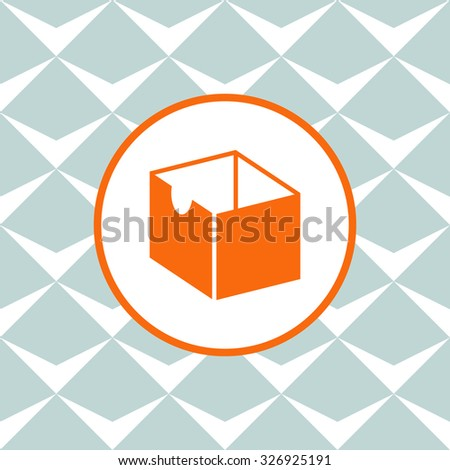 Box vector icon. Seamless background with geometric design. - stock vector