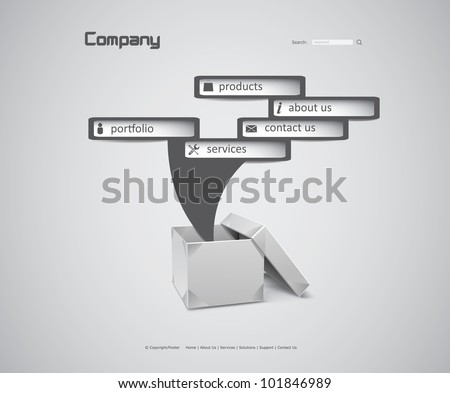 Box Website - stock vector
