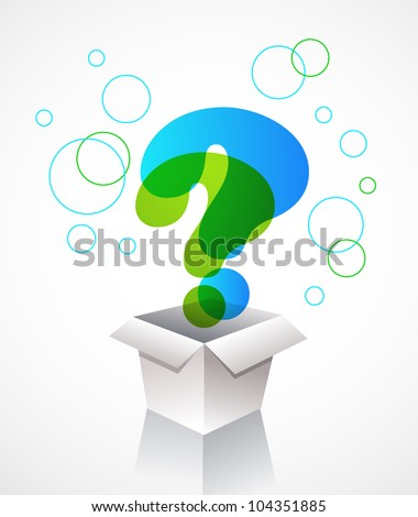 box with question mark icons - stock vector