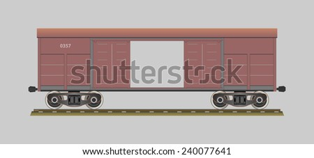 Boxcar. Covered wagon. Vector illustration. EPS 10. Opacity