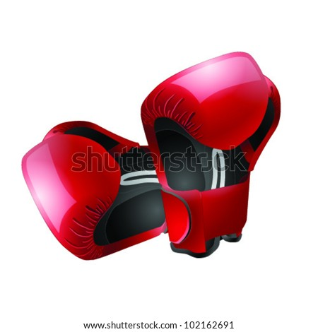 Boxer gloves isolated - stock vector