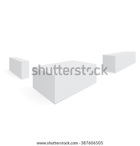 Boxes mockup ready for your design. Three boxes in perspective. Vector illustration, eps 10 - stock vector