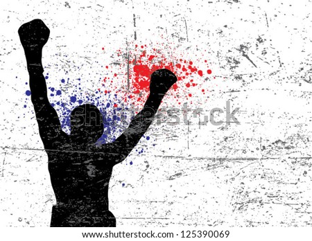 boxing and mma fighter - match poster - stock vector