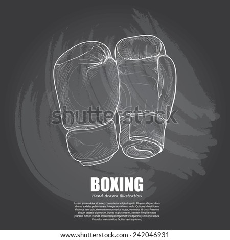Boxing background Design. Hand drawn.