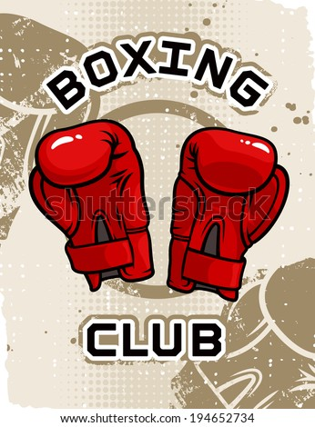 Boxing Club Poster Template Stock Vector 194652734 - Shutterstock