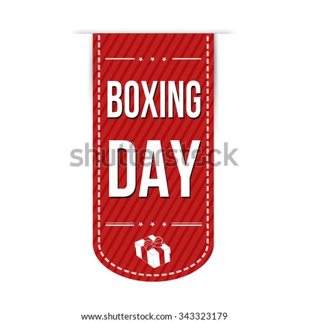 Boxing day banner design over a white background, vector illustration - stock vector