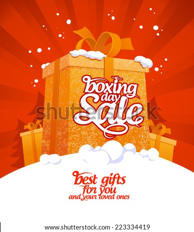 Boxing day sale design. - stock vector