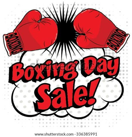 Boxing day shopping creative sale idea. vector illustration. - stock vector